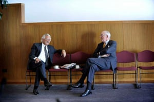 Former Australian prime ministers Bob Hawke and Malcolm Fraser