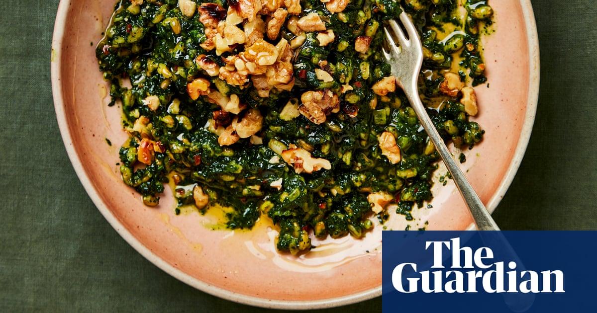 Meera Sodha's vegan recipe for cavolo nero with spelt and walnuts