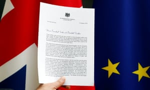 A copy of letter from May to Tusk and Juncker.