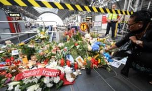 Flowers at Frankfurt station