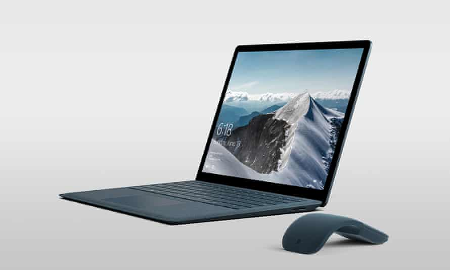 The Microsoft Surface Laptop.