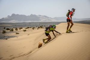 Runners compete in the stage 3 of the 34rd edition of the Marathon des Sables
