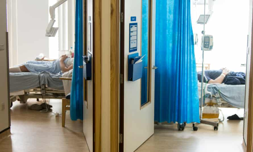 Patients rooms in NHS hospital