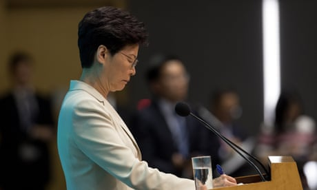Hong Kong leader Carrie Lam offers apology after protests – video