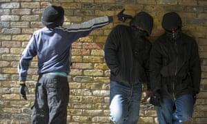 Gang members in Brixton, south London.