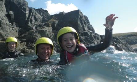 Coasteering with Preseli Venture Eco Lodge and Adventures