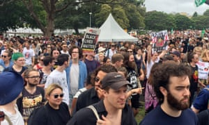 Protesters gather in Sydney to denounce the celebration of Australia Day, which many indigenous people call 'Invasion Day'.