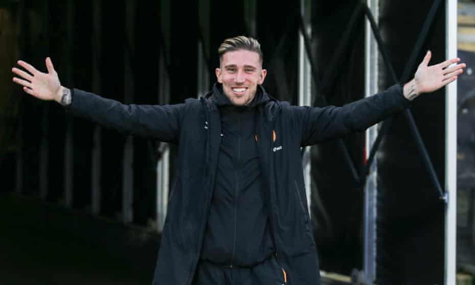 Angus Macdonald on his return to Hull's Kcom Stadium on 25 January. He expects he will cry when he makes his first-team return.