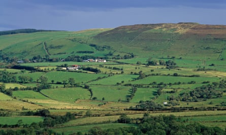 Farmland in Coleraine, Northern Ireland