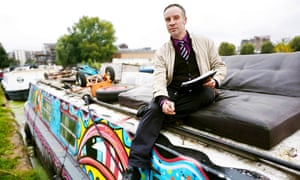 Andy Winter on his colourful narrowboat
