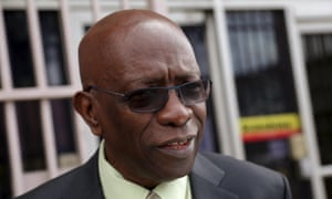 Former Fifa vice-president Jack Warner, after he was indicted by the United States on corruption charges.