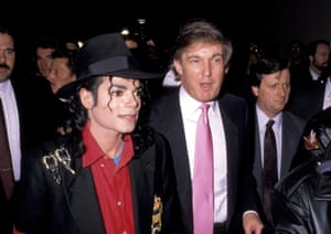Michael Jackson attends the opening of the Trump Taj Mahal