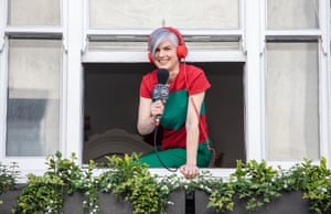 Clare Lynch, who is broadcasting from her home in Soho for Soho Radio London