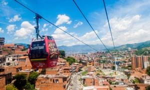 Colombia, Antioquia, Medellin, Metrocable