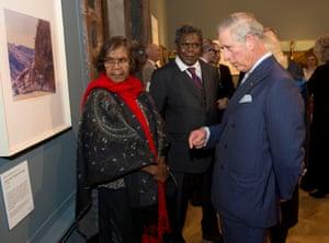 Lenie and Kevin Namatjira meet The Prince of Wales.