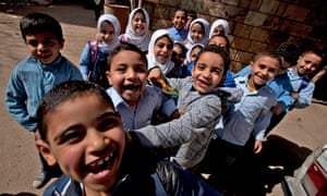 Egyptian school children