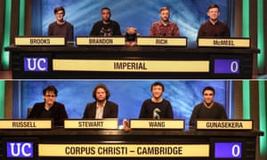 This year's University Challenge finalists.