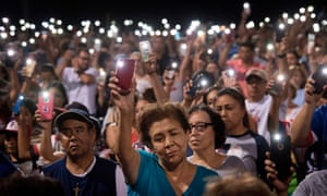 A vigil in El Paso, Texas, after the mass shooting in August.