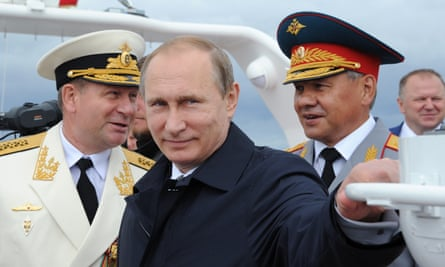 Vladimir Putin attends naval celebrations in Kaliningrad, which also serves as a base for Russia's Baltic fleet.