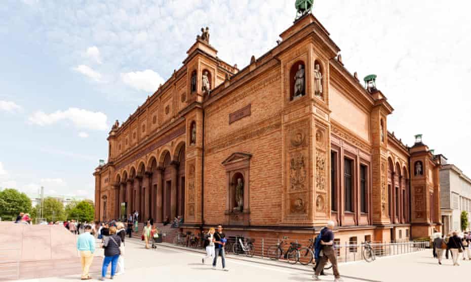 Renovated main building of Kunsthalle Hamburg