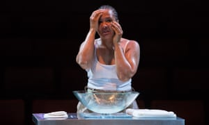 Golda Rosheuvel as Othello in Gemma Bodinetz's new production at the Liverpool Everyman.