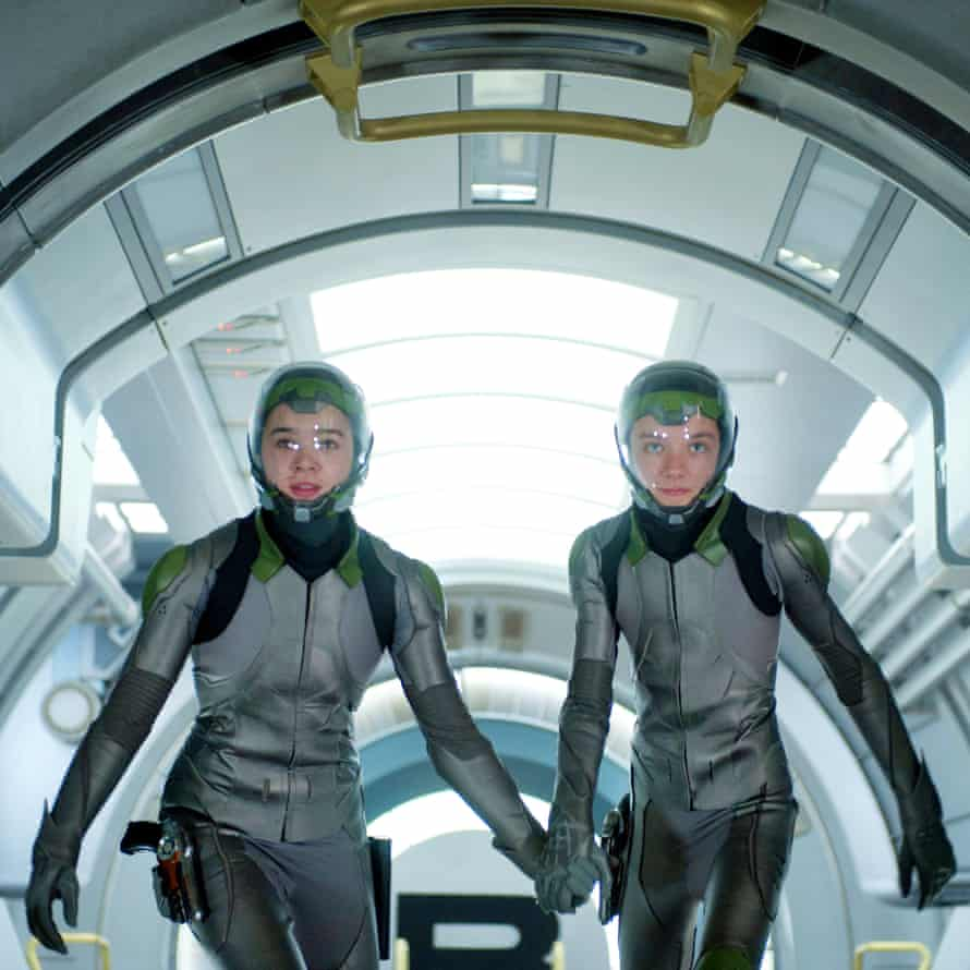 With Hailee Steinfeld in 2013's Ender's Game.