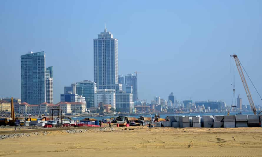 A general view of the Colombo International Financial City building site