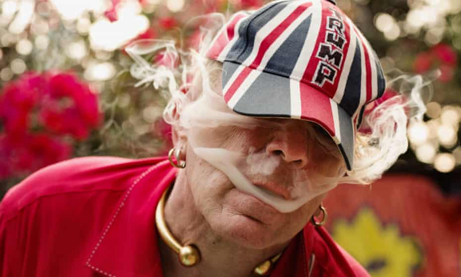John Lydon photographed in his garden near Venice Beach, Los Angeles, California for the Observer New Review.