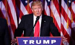 President-elect Donald Trump delivers his acceptance speech in New York