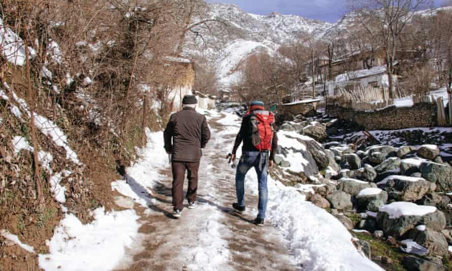 Nematov and his son head up into the Fann mountain range.