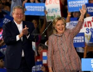 Hillary Clinton and Al Gore