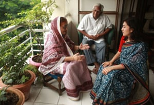 Anam with her Aunt and uncle in Bangladesh in 2008.