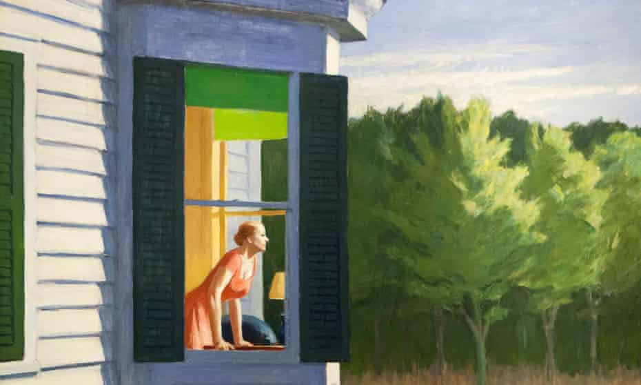 A detail from Cape Cod Morning by Edward Hopper, 1950.