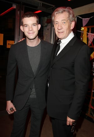 'He wouldn't perform Monday nights so he could make it to the quiz at his pub' … Russell Tovey with McKellen in 2010.