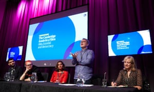 A panel debate at the Labour party conference, featuring Shahmir Sanni, Christopher Wylie, Observer leader writer Sonia Sodha, Tom Watson MP and Carole Cadwalladr.