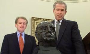 George W Bush Winston Churchill White House