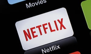 The Netflix app icon showing on an Apple TV