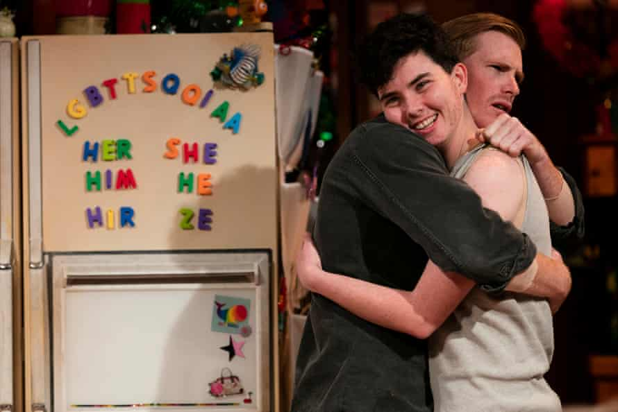 Isaac (Michael Whalley) and Max (Kurt Pimblett) in Belvoir Street theatre's production of Taylor Mac's play Hir