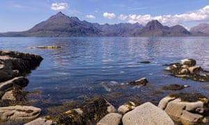 Black Cuillin Mountains and Loch Scavaig as seen from Elgol, Isle of Skye