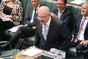 Prime minister Scott Morrison during question time