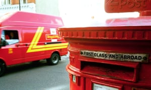 A Royal Mail postbox and van in London