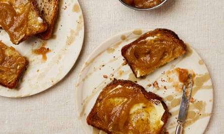 Yotam Ottolenghi's spiced apple butter is just as good on toast as in the galette below.