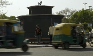 An air purifier which was installed for a trial period at a busy road junction in Delhi in 2010.