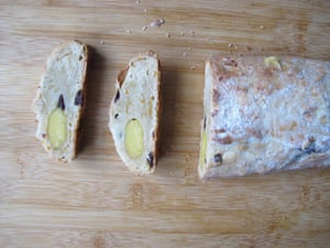 Serious Eats' stollen features bourbon and mixed spice.