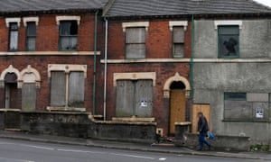 Derelict houses in Stoke-on-Trent