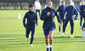 Sam Kerr at Chelsea training