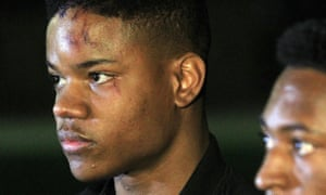 Virginia student Martese Johnson was on hand as fellow Virginia students protested for him in March.