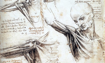 detail from a drawing of the anatomical analysis of the movements of the shoulder by Leonardo da Vinci (c.1509).