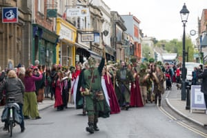 The Maypole is carried to Bushy Combe