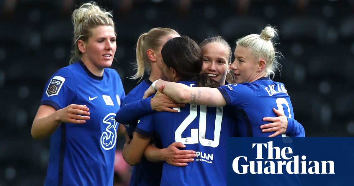 Chelsea pip Man City to Women's Super League title after 5-0 win over Reading